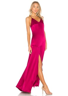 Halston Heritage Slip Dress With Flowy Skirt in Pink. - size 0 (also in 2,6,8)