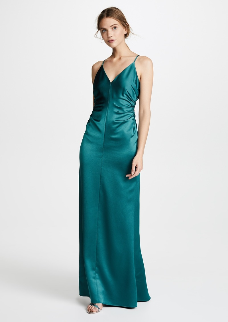 Halston Heritage Halston Heritage Slip Gown with Side Gathers   Dresses