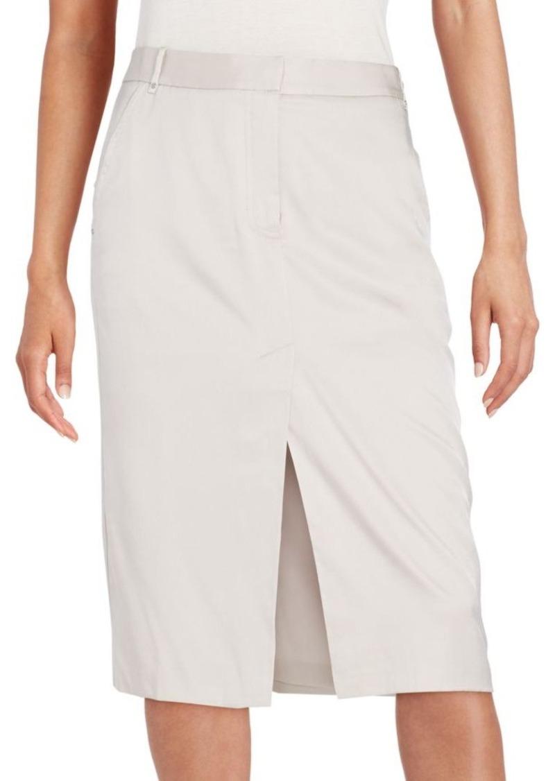 Halston Heritage Slit Midi Skirt