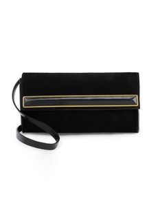 Halston Heritage Small Suede Clutch