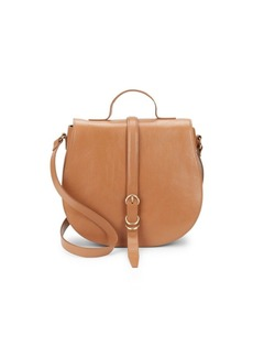 Halston Heritage Smooth Leather Saddle Bag