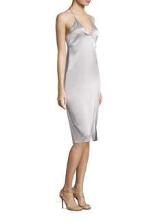 Halston Heritage Solid Cami Slip Dress