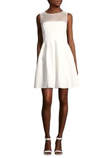 Halston Heritage Solid Illusion Dress
