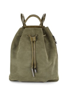 Halston Heritage Leather & Suede Drawstring Backpack