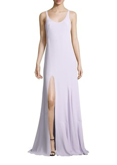 Halston Heritage Solid Sleeveless Gown