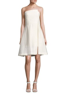 Halston Heritage Solid Strapless Dress