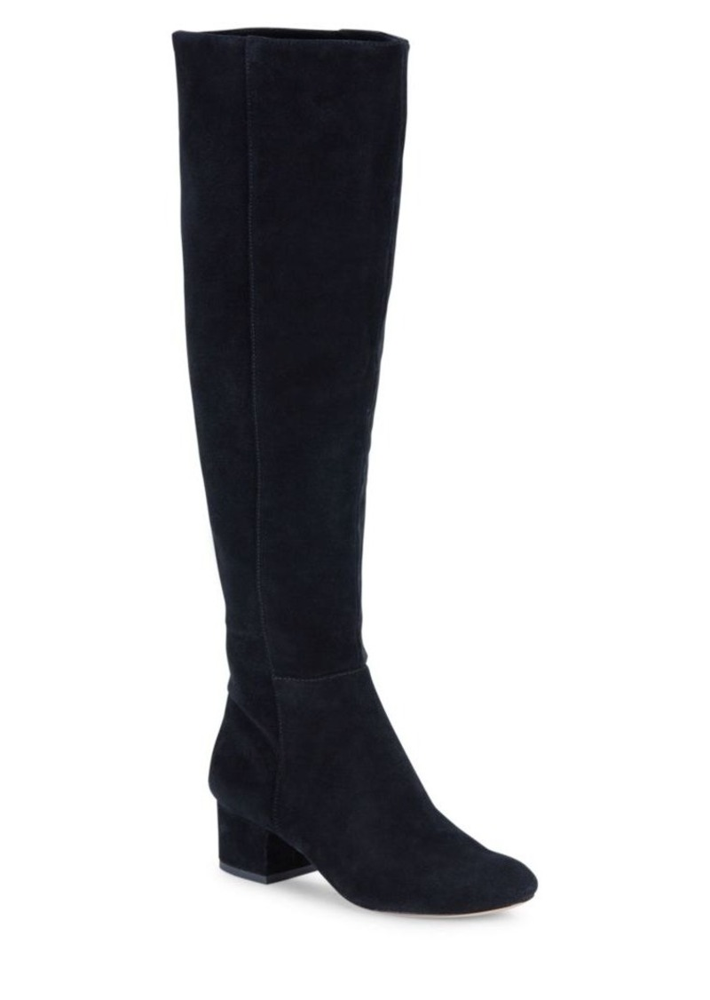 Halston Heritage Solid Suede Knee-High Boots