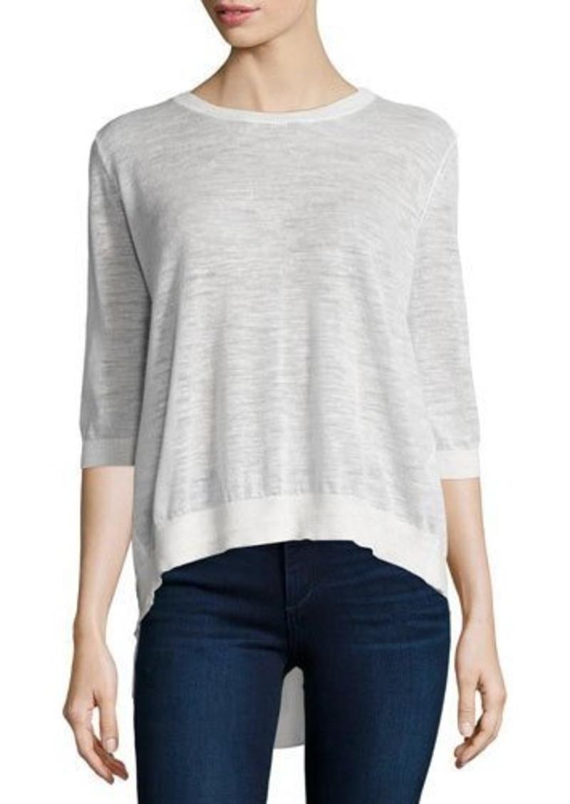Halston Heritage Split-Back Pullover Top