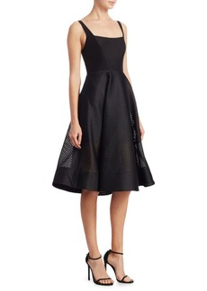 Halston Heritage Squareneck A-Line Dress
