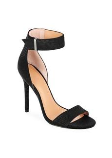 Halston Heritage Stiletto-Heel Leather Sandals