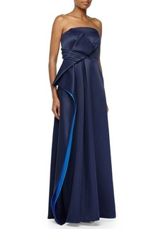 Halston Heritage Strapless A-line Gown w B