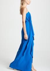 Halston Heritage Strapless Drape Gown