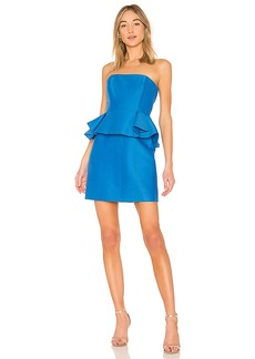 Halston Heritage Strapless Dress With Peplum