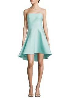 Halston Heritage Strapless Fit-&-Flare Dress