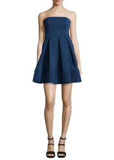 Halston Heritage Strapless Fit-and-Flare Cocktail Dress