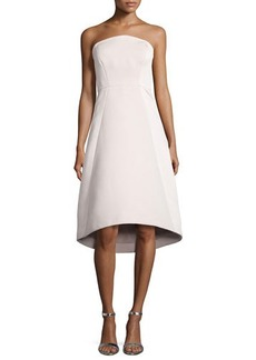 Halston Heritage Strapless High-Low Cocktail Dress