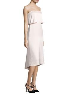 Strapless Popover Satin Dress