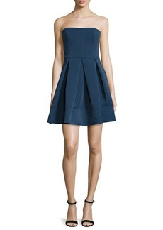 Halston Heritage Strapless Quilted Dress