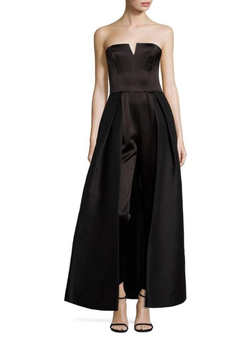a4e4b36df4e5 Halston Heritage Halston Heritage Strapless Skirt Overlay Jumpsuit ...