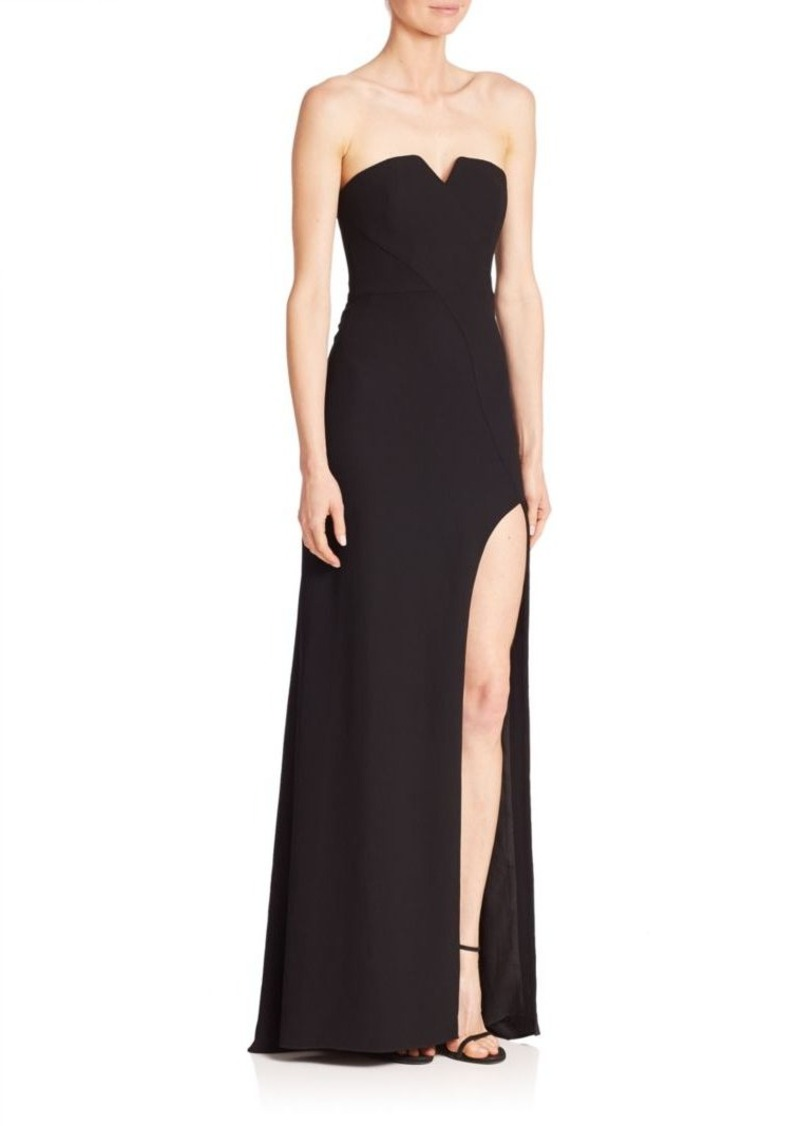 8a0f6211a00e Halston Heritage Halston Heritage Strapless Slit Gown | Dresses