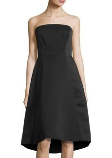 Halston Heritage Strapless Structured Cocktail Dress