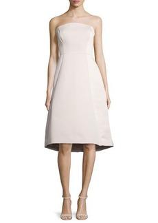 Halston Heritage Strapless Structured Dress
