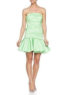 Halston Heritage Strapless Taffeta Dress