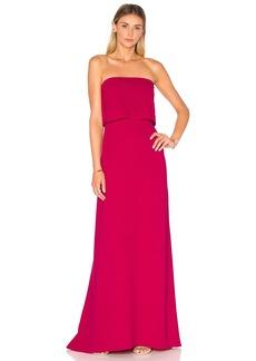 Halston Heritage Strapless Tiered Gown