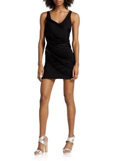 HALSTON HERITAGE Strapped Ponte Mini Dress