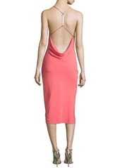 Halston Heritage Strappy-Back Halter Dress