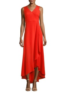 Halston Heritage Strappy High-Low Dress