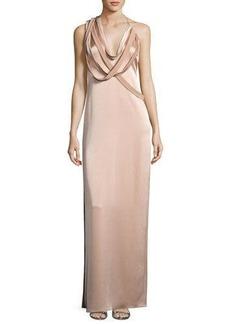 Halston Heritage Strappy Satin Slip Gown