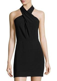 Halston Heritage Stretch-Crepe Mini Dress