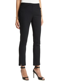 Halston Heritage Stretch-Wool Straight-Leg Ankle Pants