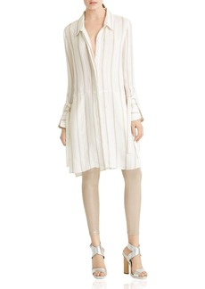 HALSTON HERITAGE Striped Shirt Dress