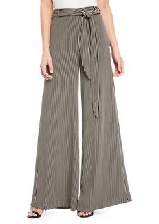 Halston Heritage Striped Wide-Leg Pants