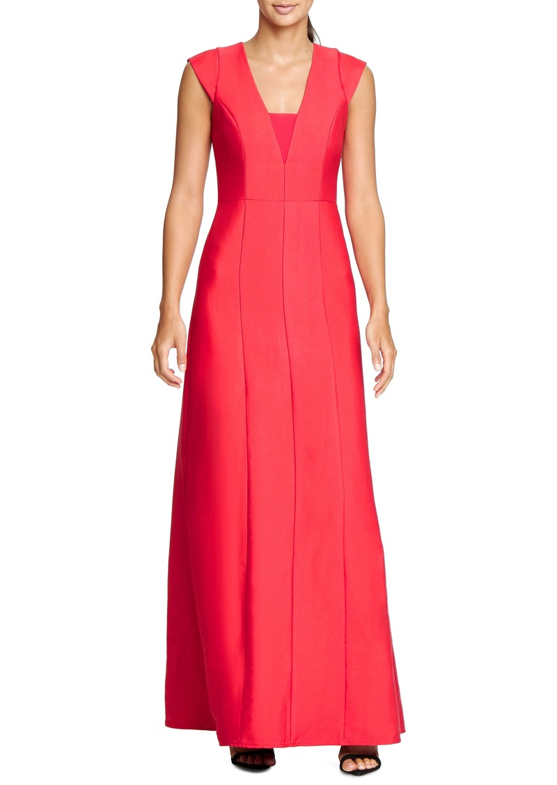 Halston Heritage Structured A-Line Gown