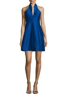 Halston Heritage Structured Faille Halter Dress