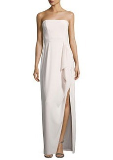 Halston Heritage Structured Stretch Crepe Column Gown