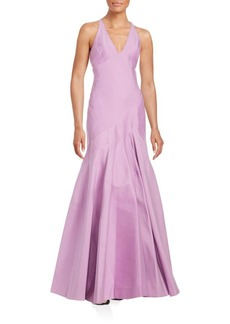 Structured V-Neck Gown