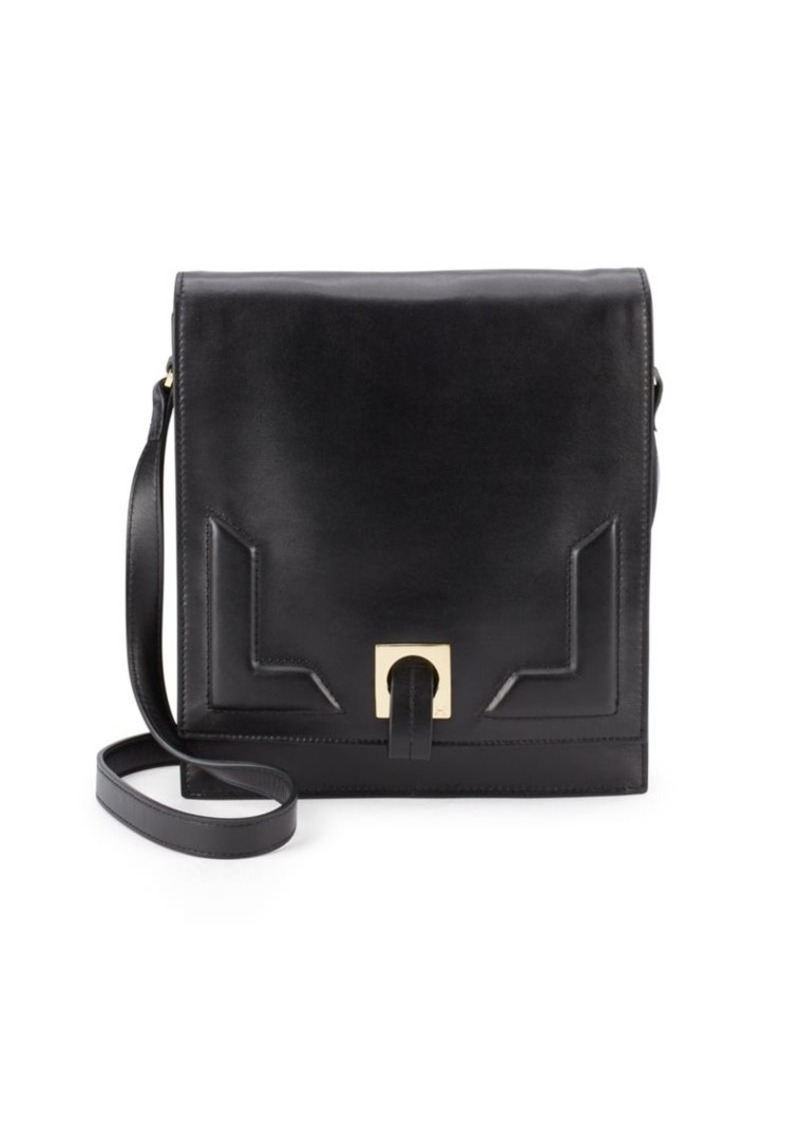 Halston Heritage Suede & Leather Shoulder Bag
