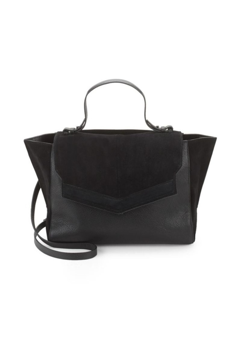 Halston Heritage Suede & Leather Tote Bag