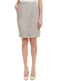 Halston Heritage Suede Pencil Skirt