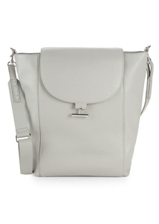 Halston Heritage Textured Leather Shoulder Bag