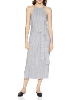 HALSTON HERITAGE Textured Stripe Slip Dress