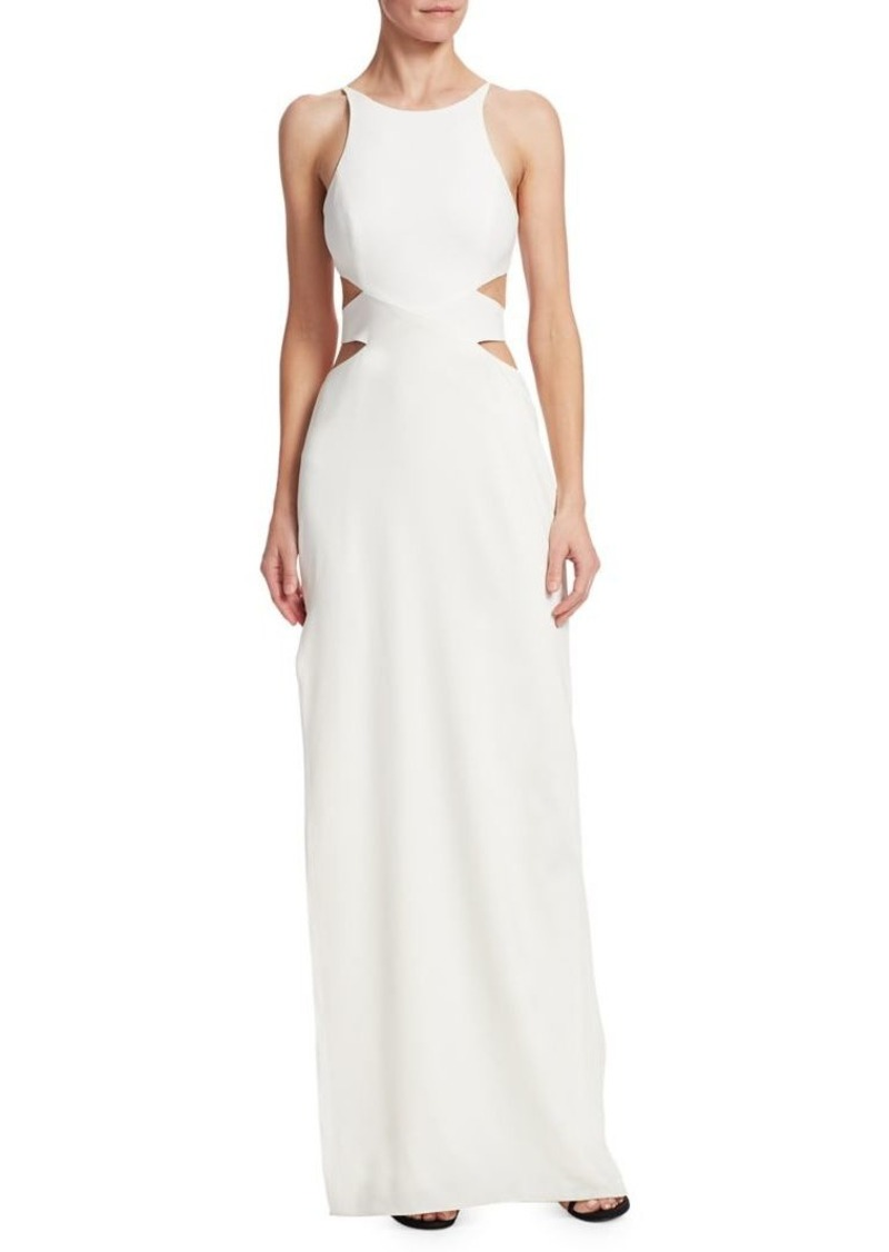 Halston Heritage Halston Heritage Tie-Back Cut Out Gown | Dresses