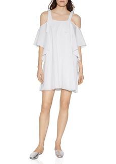 HALSTON HERITAGE Tie-Strap Cold-Shoulder Dress