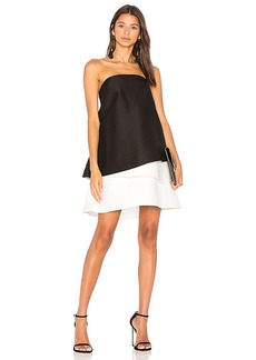 Halston Heritage Tiered Dress in Black. - size 4 (also in 0,6)