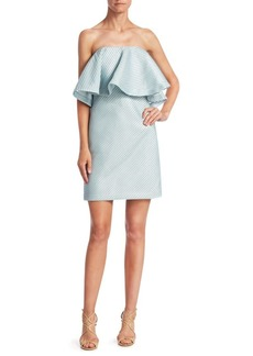 Halston Heritage Tiered Flounce Dress