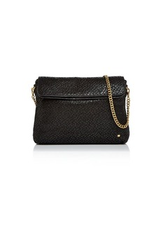 Halston Heritage Tina Double Flap Convertible Leather Clutch